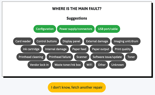 Select the main fault